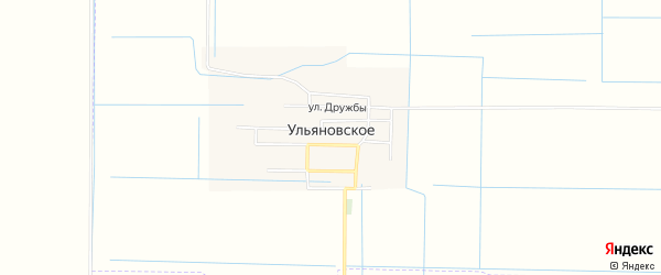 Карта Ульяновского села в Чечне с улицами и номерами домов