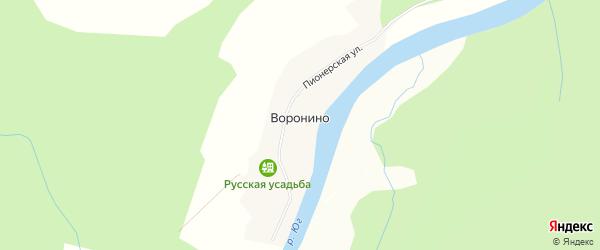 Карта деревни Воронино в Вологодской области с улицами и номерами домов