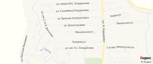 Московская улица на карте села Гой-чу Чечни с номерами домов