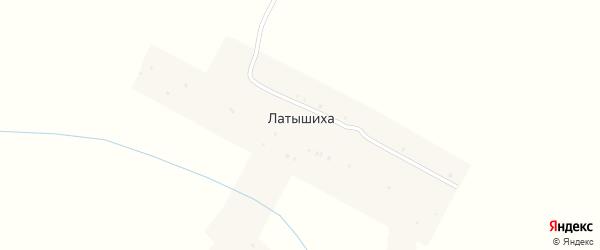 Улица Щедровка на карте села Латышиха Нижегородской области с номерами домов