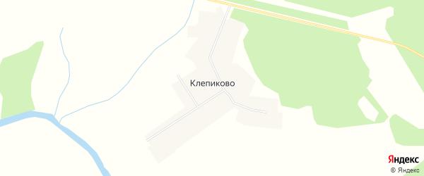Карта деревни Клепиково в Вологодской области с улицами и номерами домов