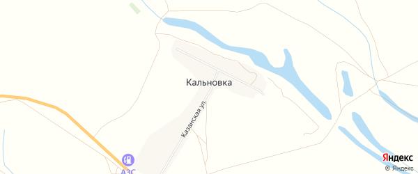 Карта села Кальновки в Астраханской области с улицами и номерами домов