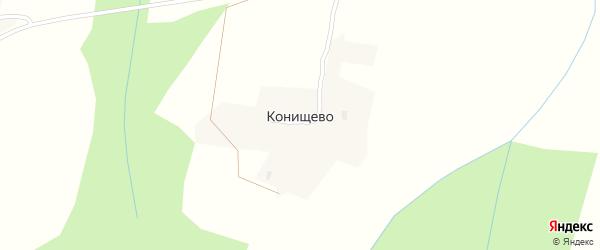 Красная улица на карте деревни Конищево Вологодской области с номерами домов
