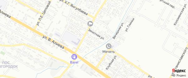 Прогонная улица на карте Грозного с номерами домов