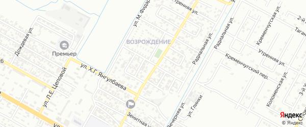 Изумрудная улица на карте Грозного с номерами домов