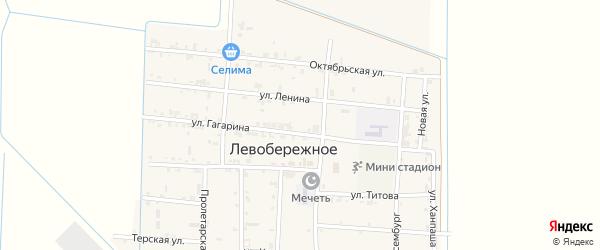 Виноградная улица на карте Левобережного села с номерами домов