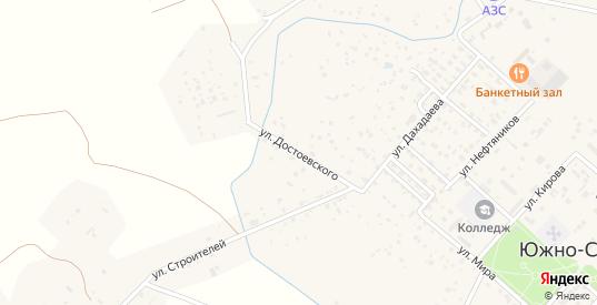Улица Достоевского в Южно-Сухокумске с номерами домов на карте. Спутник и схема онлайн