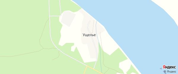 Карта деревни Ущелья в Архангельской области с улицами и номерами домов