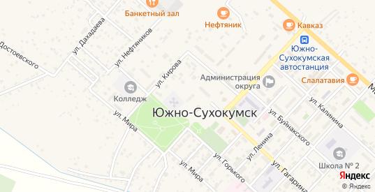 Улица Багратиона в Южно-Сухокумске с номерами домов на карте. Спутник и схема онлайн