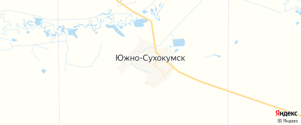 Карта Южно-Сухокумска с районами, улицами и номерами домов: Южно-Сухокумск на карте России