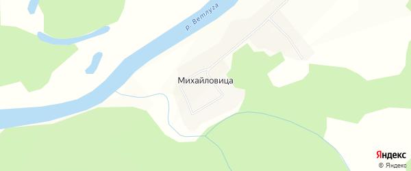Карта села Михайловицы в Костромской области с улицами и номерами домов