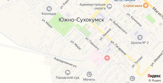 Улица М.Гаджиева в Южно-Сухокумске с номерами домов на карте. Спутник и схема онлайн