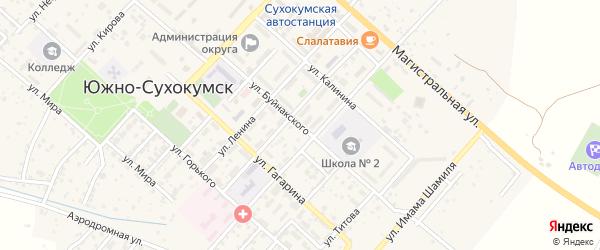 Улица Буйнакского на карте Южно-Сухокумска с номерами домов