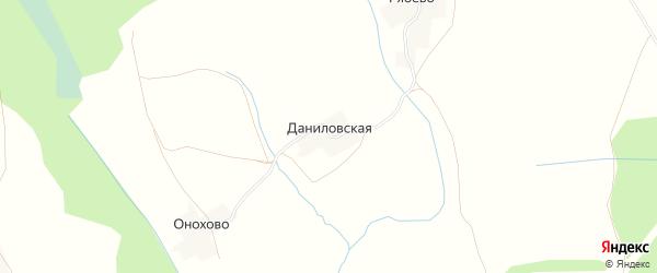 Карта Даниловской деревни в Вологодской области с улицами и номерами домов
