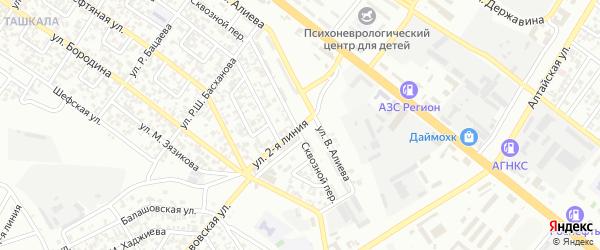 Улица 2 Линия на карте Грозного с номерами домов
