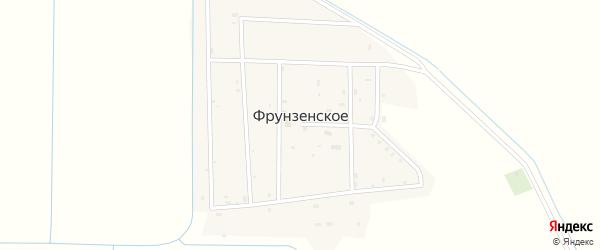 Северная улица на карте Фрунзенского села с номерами домов