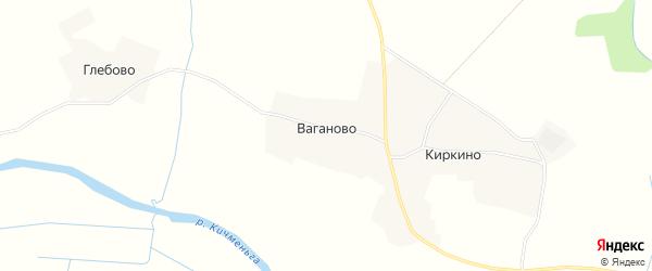 Карта деревни Ваганово в Вологодской области с улицами и номерами домов
