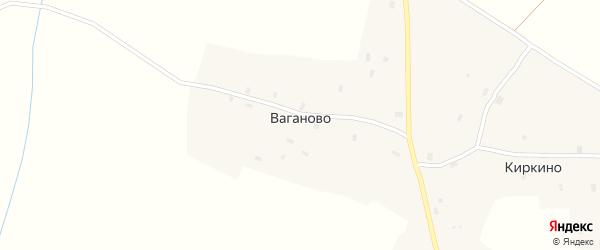 Полевая улица на карте деревни Ваганово Вологодской области с номерами домов