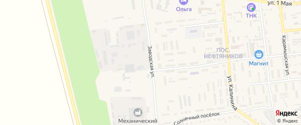 Заводская улица на карте Красноармейска с номерами домов
