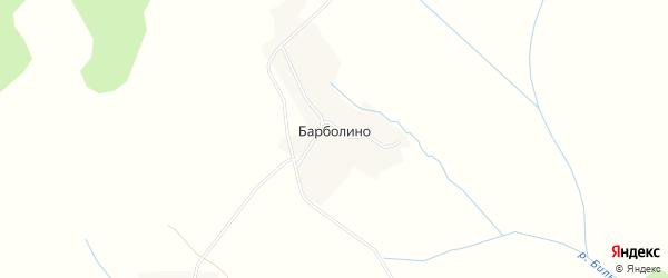 Карта деревни Барболина в Вологодской области с улицами и номерами домов