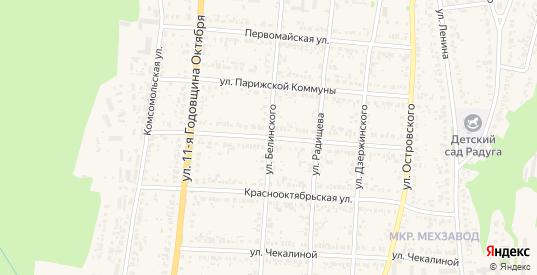 Улица Белинского в Сурске с номерами домов на карте. Спутник и схема онлайн