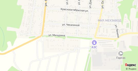 Улица Мичурина в Сурске с номерами домов на карте. Спутник и схема онлайн
