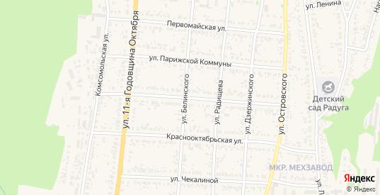 Интернациональная улица в Сурске с номерами домов на карте. Спутник и схема онлайн