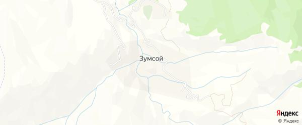 Карта села Зумсой в Чечне с улицами и номерами домов