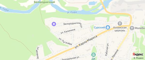 Улица Калинина на карте Сурска с номерами домов