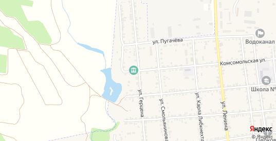 Улица Герцена в Красноармейске с номерами домов на карте. Спутник и схема онлайн