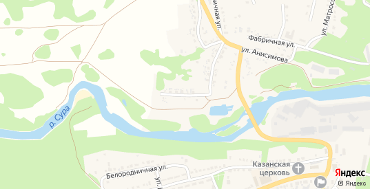 Набережная улица в Сурске с номерами домов на карте. Спутник и схема онлайн