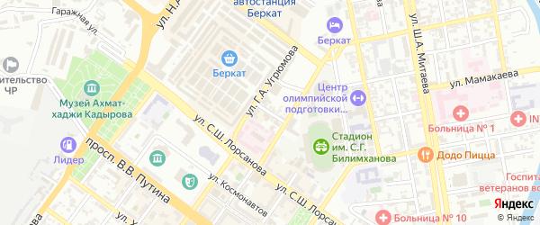 М.М.Хамитовой переулок на карте Грозного с номерами домов
