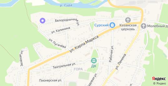 Улица Карла Маркса в Сурске с номерами домов на карте. Спутник и схема онлайн
