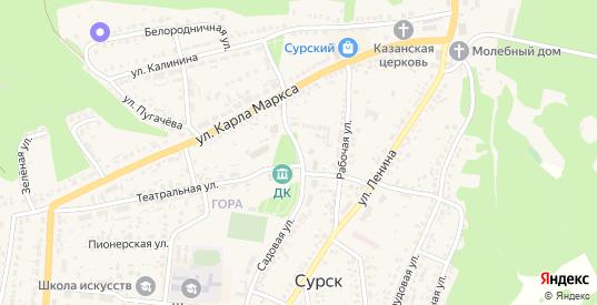 Садовая улица в Сурске с номерами домов на карте. Спутник и схема онлайн