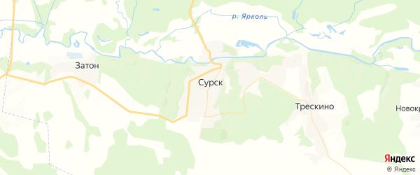 Карта Сурска с районами, улицами и номерами домов: Сурск на карте России
