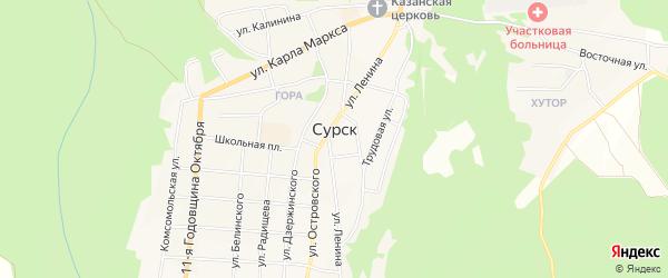 ГСК Г-85 на карте Сурска с номерами домов