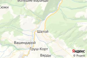 Карта с. Шатой