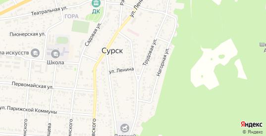 Улица Ленина в Сурске с номерами домов на карте. Спутник и схема онлайн
