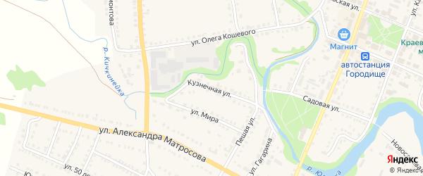 Кузнечная улица на карте Городища с номерами домов