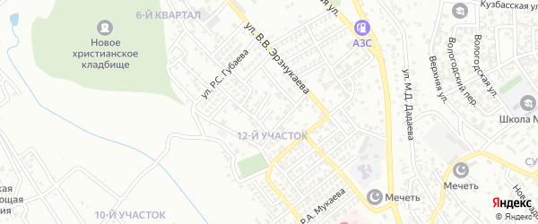 Р.Р.Азизова 3-й переулок на карте Грозного с номерами домов
