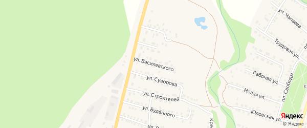 Улица Василевского на карте Городища с номерами домов
