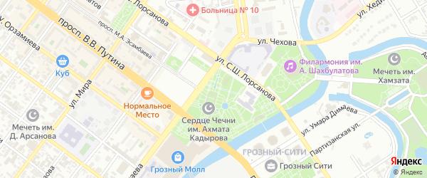Улица Дарвина-Громова на карте Грозного с номерами домов