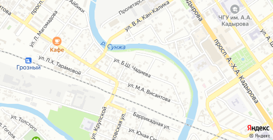 Улица Красная турбина в Грозном с номерами домов на карте. Спутник и схема онлайн