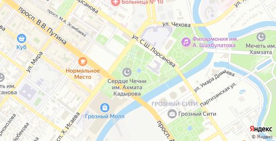 Старосунженская улица в Грозном с номерами домов на карте. Спутник и схема онлайн
