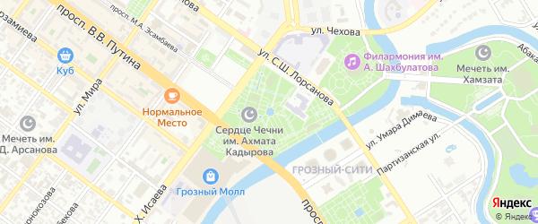 Орская улица на карте Грозного с номерами домов