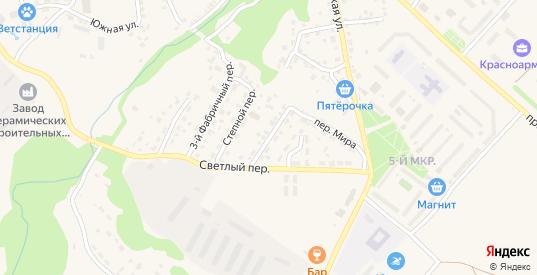 Вишневый переулок в Красноармейске с номерами домов на карте. Спутник и схема онлайн
