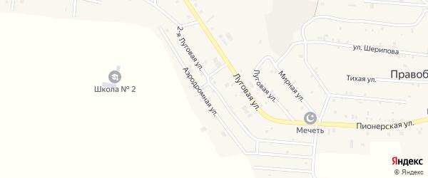 Улица Луговая 2-й на карте Правобережного села Чечни с номерами домов