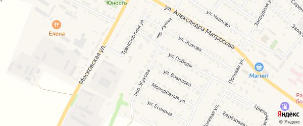 Переулок Жукова на карте Городища с номерами домов