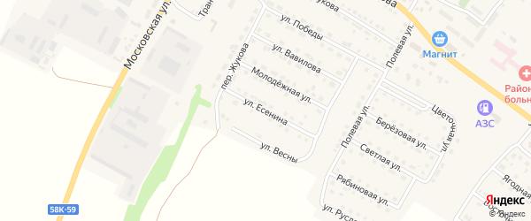 Улица Есенина на карте Городища с номерами домов