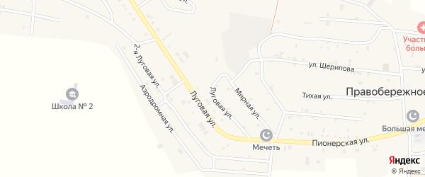 Луговая улица на карте Правобережного села с номерами домов